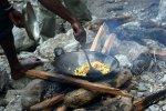 Outdoor kitchen during a trek