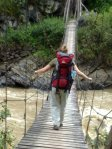 papua travels. traditional hanging bridge-Dani tribe,Baliem valley,west-papua