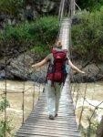papua travels. traditional hanging bridge-Dani tribe,Baliem valley,west-papua