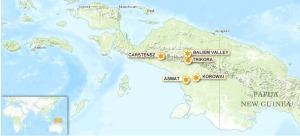 Korowai map, Papua
