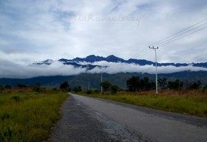Baliem valley mount trikora view