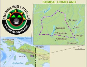 kombai map-trek papua