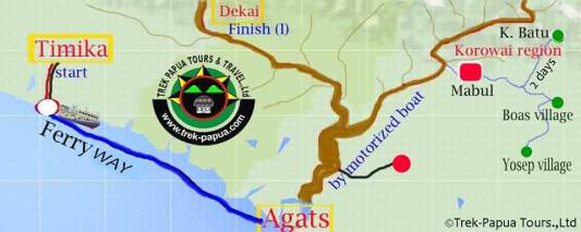kombai papua map